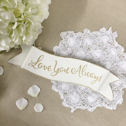 50% OFF Love You Always Metal Scroll Sign